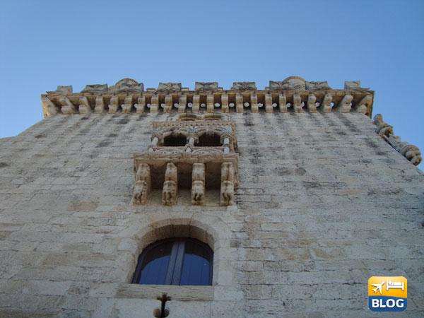 Particolari della Torre di Belèm a Lisbona