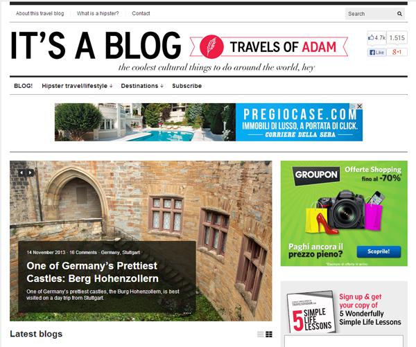 Travelsofadam.com Blog