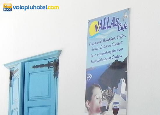 Il cartello del Valls Cafè