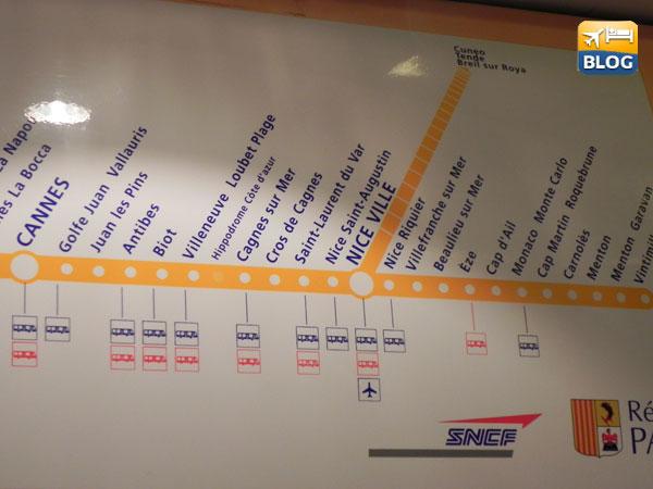 Fermate treno da Villefranche a Nizza o Monaco Monte Carlo