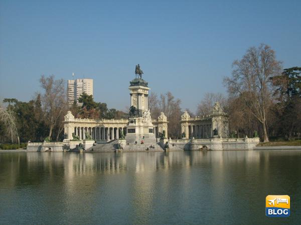 Il parco del buen Retiro a Madrid