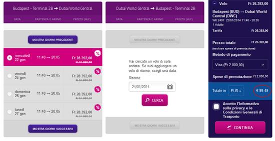 Wizzair a Dubai offerta