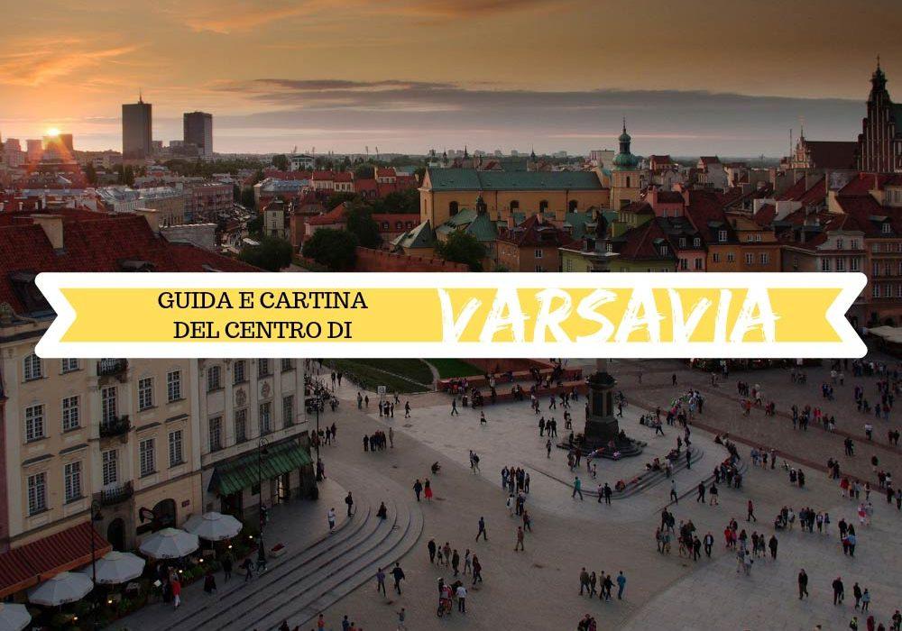 Guida e cartina del centro di Varsavia da stampare