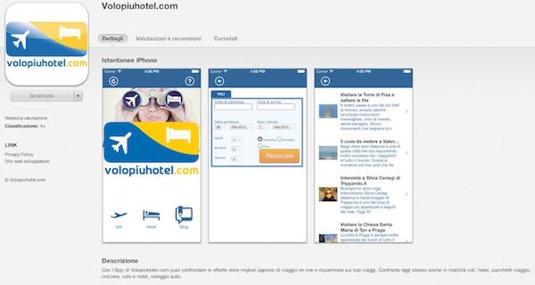 Arriva l'App di Volopiuhotel.com