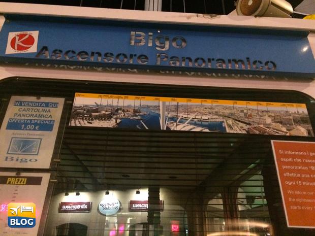 Bigo ascensore panoramico al porto Antico di Genova