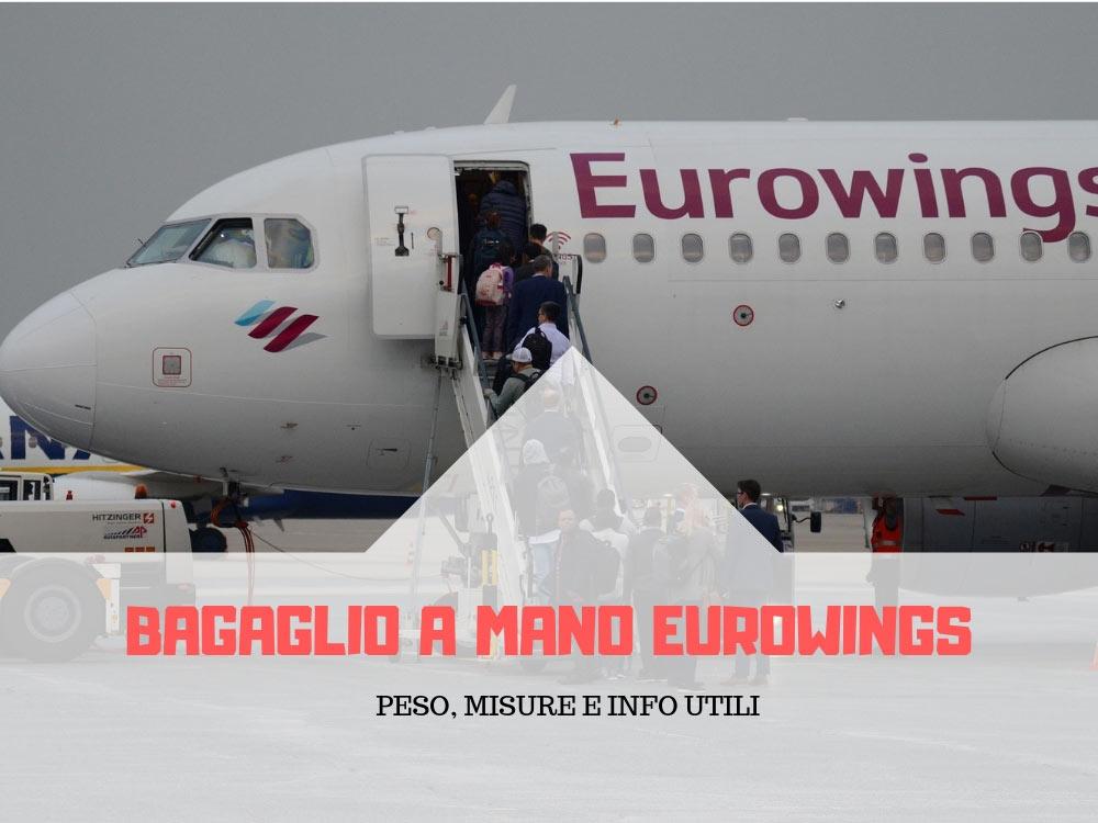 Bagaglio a mano Eurowings dimensioni e peso