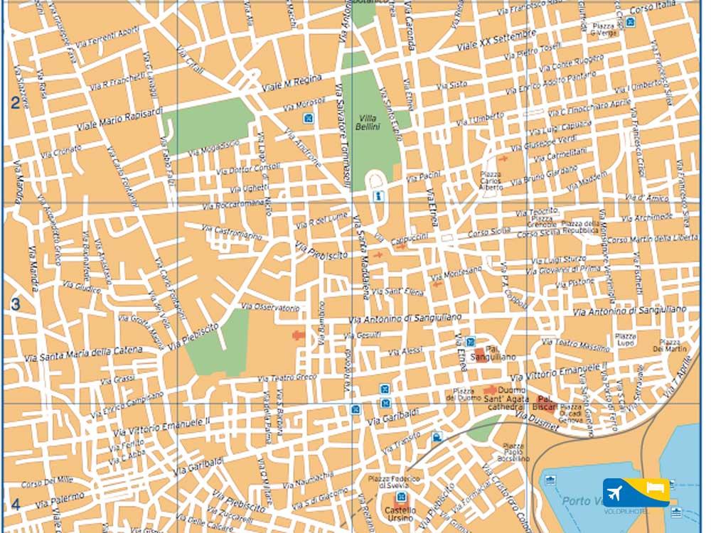 Guida e cartina del centro di Catania