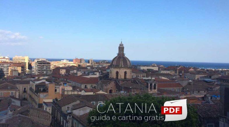 Guida e cartina del centro di Catania da stampare