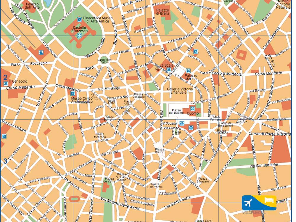 Guida e cartina del centro di Milano