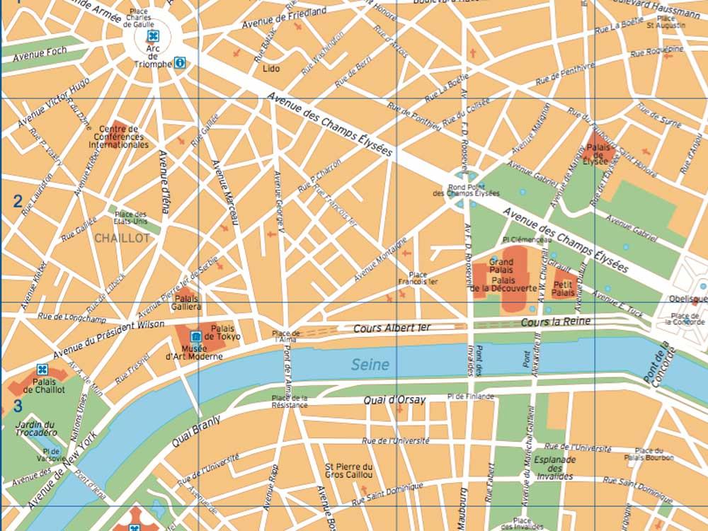 Cartina del centro di Parigi