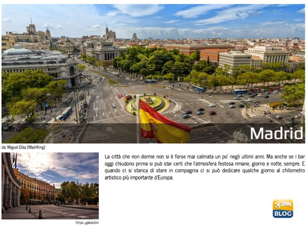 Guida e cartina da stampare del centro di Madrid