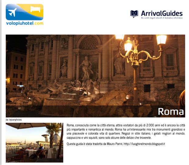 Guida e cartina di Roma da stampare gratis