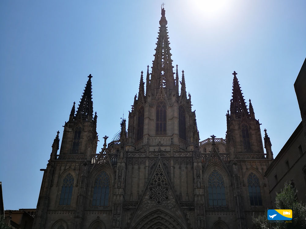 Veduta centrale della Cattedrale di Barcellona