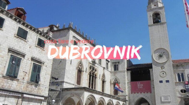 Dubrovnik cosa fare e vedere nella città vecchia