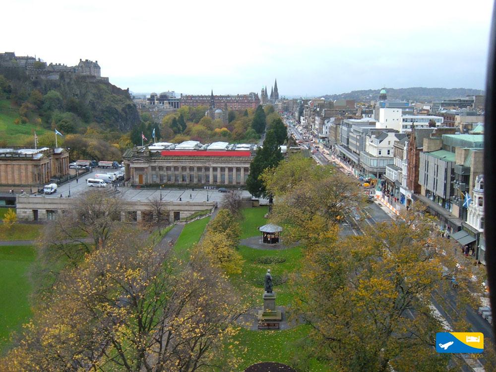 Guida e cartina del centro di Edimburgo da stampare
