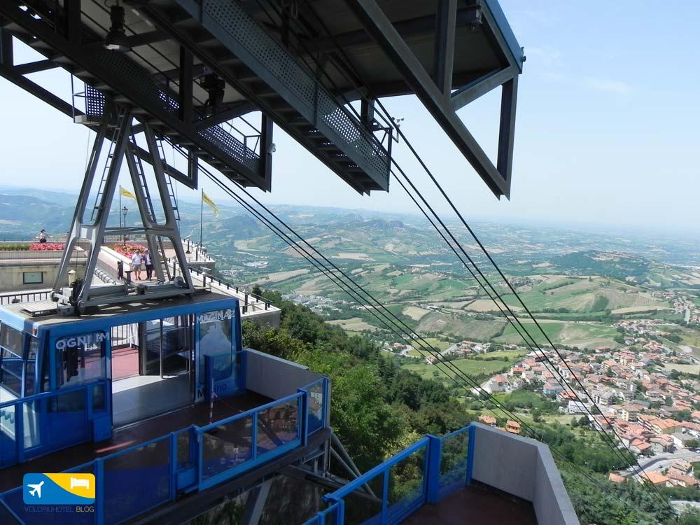 Funivia di San Marino dal centro al Borgo Maggiore