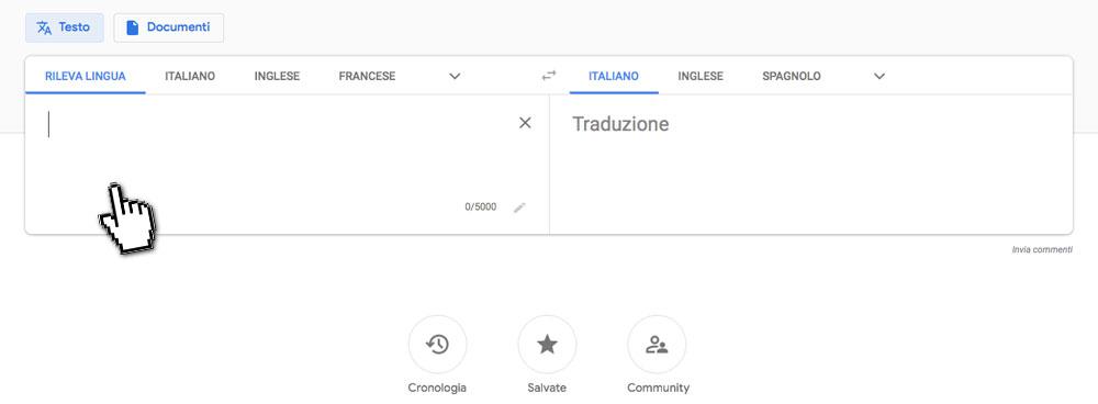 Google traduttore da PC