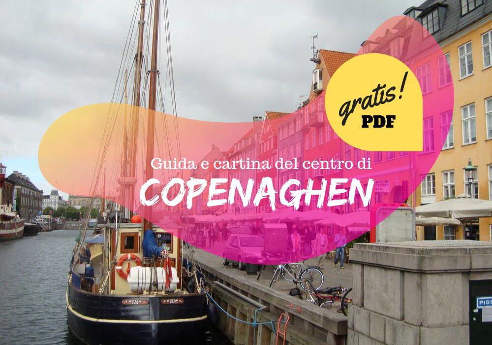 Guida e cartina del centro di Copenaghen gratis in PDF