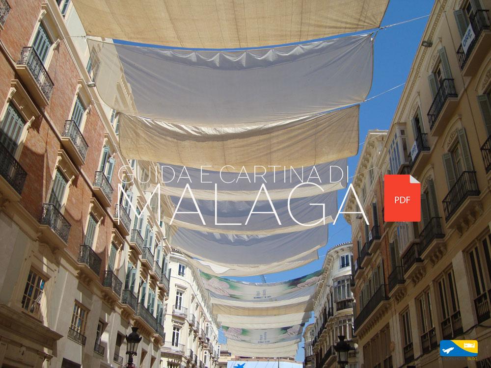Guida e cartina del centro di Malaga da stampare