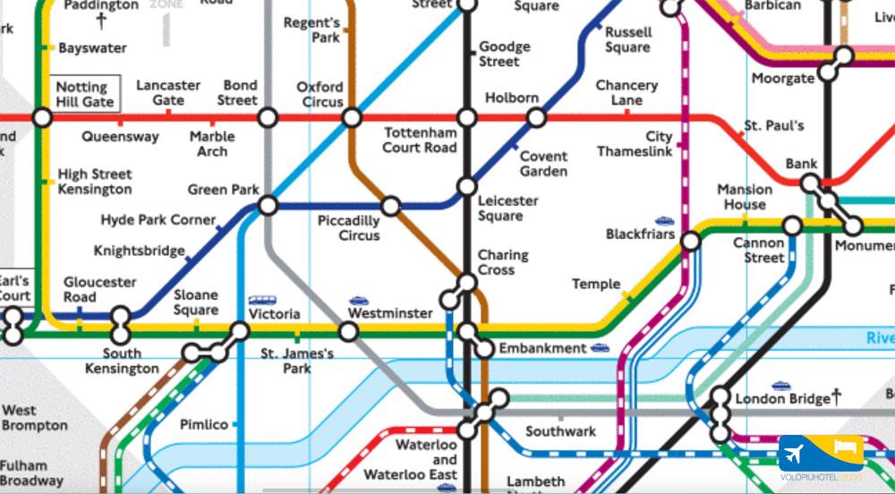 Metropolitana Di Londra Cartina.Dove Trovare La Mappa Della Metropolitana Di Londra Volopiuhotel Blog