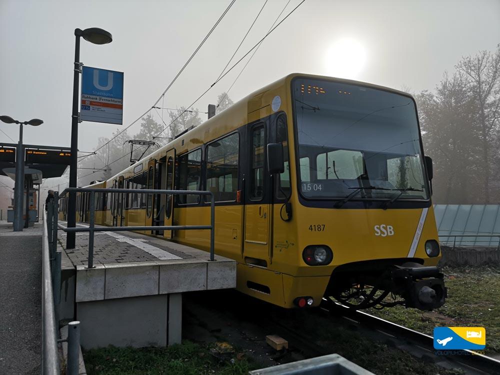 Metropolitana di Stoccarda che porta alla torre