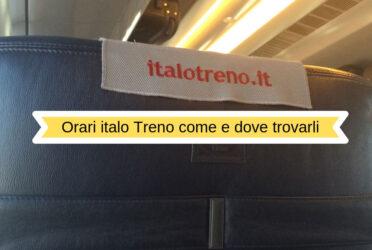 Orari Italo treno