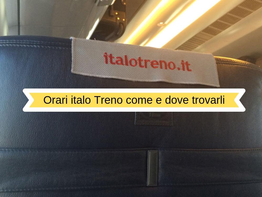 Orari treni Italo: come e dove trovarli