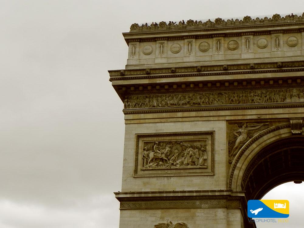 Panorama dall'Arco di Trionfo a Parigi