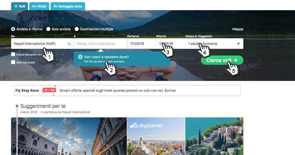 Skyscanner Ovunque