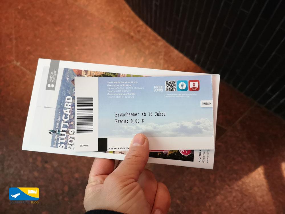 Biglietto d'ingresso alla torre di Stoccarda