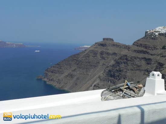 Il Vallas Cafè, una veduta sulla Caldera di Santorini