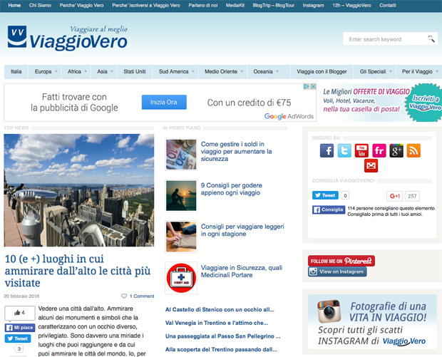 Il Blog Viaggiovero.com